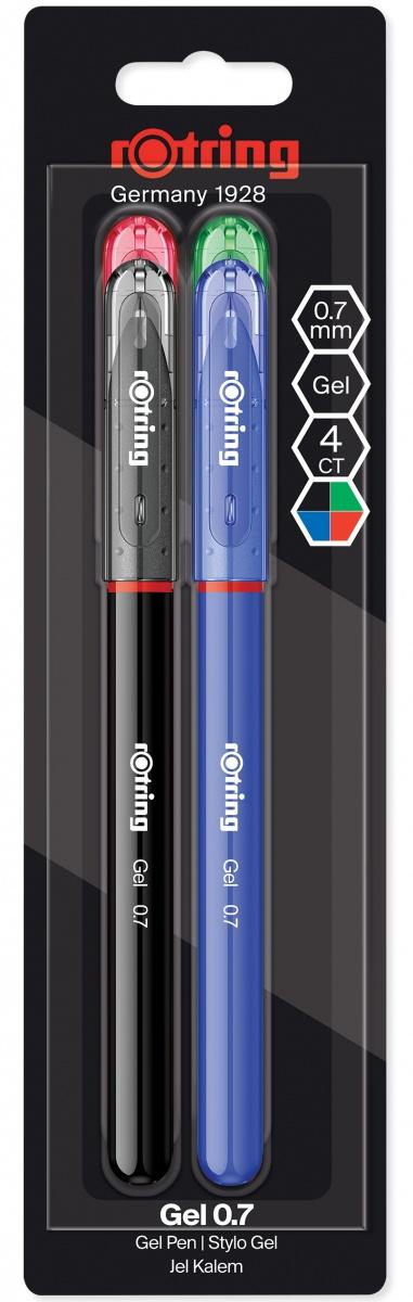 Set 4 Roller Gel Pen 0.7